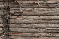 Klotz-Wand-Hintergrund Stockfoto