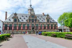 Kloveniersdoelen在米德尔堡,西兰省省,荷兰的首都 免版税库存图片