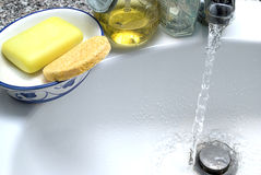 klozetu mydła woda Obrazy Royalty Free