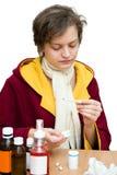 Kälte- u. Grippejahreszeit Lizenzfreies Stockfoto