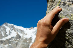 klättrarehand Royaltyfria Foton