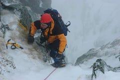 klättringvinter Fotografering för Bildbyråer