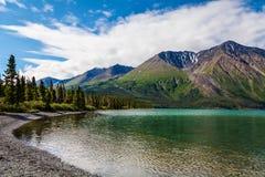 Kluane湖育空疆土加拿大 库存图片