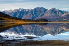 Kluane jezioro, Yukon terytorium Obrazy Royalty Free