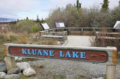 Kluane Lake Alaska Highway Rest Stop. Kluane Lake Alaska Highway Historic Mile 1016 Rest Stop in Yukon Territory, Canada Royalty Free Stock Image
