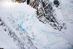 Kluane Nationaal Park en Reserve, Gletsjermeningen Royalty-vrije Stock Afbeelding