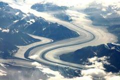 Kluane National Park. Large glacier in the Saint Elias Range, Yukon, northern Canada Royalty Free Stock Images