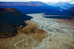 Kluane National Park and Reserve, Valley, Mountains and Rivers Stock Images