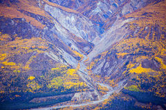 Kluane National Park and Reserve, Valley and Montainside Views royalty free stock photo
