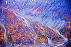 Kluane National Park and Reserve, Valley and Mountainsde Views Stock Images