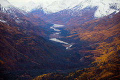 Kluane National Park and Reserve, Valley and Mountain Views stock photos