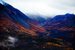 Kluane National Park and Reserve, Valleys and Mountainsde Views Royalty Free Stock Images