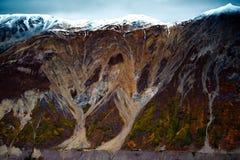 Kluane nationalpark och reserv, dal och Montainsde sikter Royaltyfria Bilder