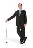 klub golfa człowiek interesu obrazy royalty free