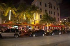 Klub nocny przy ocean przejażdżką w Miami plaży Obraz Royalty Free