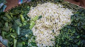 Kluban é um deserto dos vegetais de Indonésia foto de stock