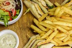 klubba den tasteful smörgåsen royaltyfri bild