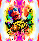 Klubba diskoreklambladbakgrund för affischer för exklusiv händelse, Arkivbild