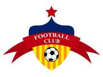 Klubba för logodesignfotboll Arkivfoto