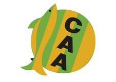 KlubbaAtletico Aldosivi logo royaltyfri illustrationer