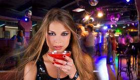 Klubbadeltagare Arkivfoto