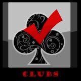 Klubbakortsymbol Royaltyfria Bilder