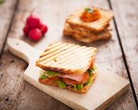 Klubbasmörgås royaltyfria foton