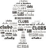 klubbor royaltyfri illustrationer