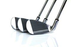 klubbor golf isolerat Royaltyfria Bilder
