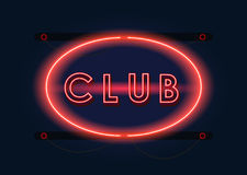 Klubu nocnego czerwony neonowy znak royalty ilustracja