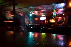 Klubu nocny laser. Obrazy Royalty Free