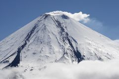 Kluchevskoy volcano. Royalty Free Stock Images