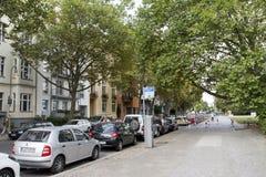 Kluckstraße gata i Berlin Arkivbild