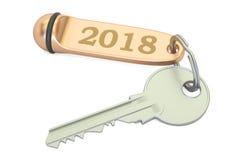 2018 klucz, 3D rendering Zdjęcie Stock