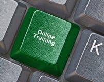 Klucz dla onlinego szkolenia Obraz Stock