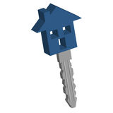 klucz do domu Zdjęcia Stock