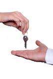 klucz do drzwi Zdjęcie Royalty Free
