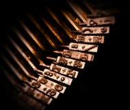 klucz do maszyny do pisania. Fotografia Stock