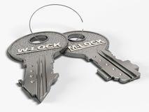 klucz do miłości Zdjęcie Stock