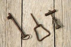 Klucz i corkscrew Obrazy Stock