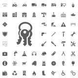 Klucz ikona Budowy i narzędzi wektorowe ikony ustawiać ilustracji