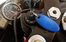 Klucz motocykl w silniku Zdjęcie Stock