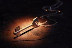 Klucz Na drewnie fotografia royalty free