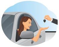 Klucz nowy samochód ilustracji