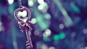 Klucz od serca Fotografia Royalty Free