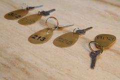 klucz pokoju hotelu Fotografia Royalty Free