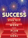 Klucz sukces Zdjęcia Stock
