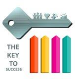 Klucz sukcesu pojęcia tła szablon 2 Zdjęcie Stock