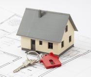 Klucz twój nowy mieszkaniowy projekt Zdjęcie Stock