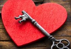 Klucz Twój serce jest Tutaj Zdjęcia Stock